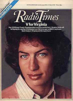 Radio Times 1 July 1978 . Tennis - Wimbledon Issue . Wonder Woman Photo Feature