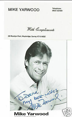 Mike Yarwood Impersonator Comedian Hand Signed Vintage Photograph 5 x 3 + slip