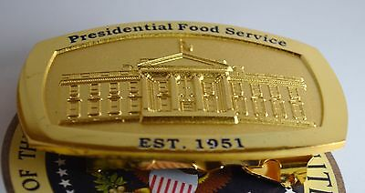 "Presidential Belt Buckle  (White House ""mess"") Food Service ~White House Issue!"