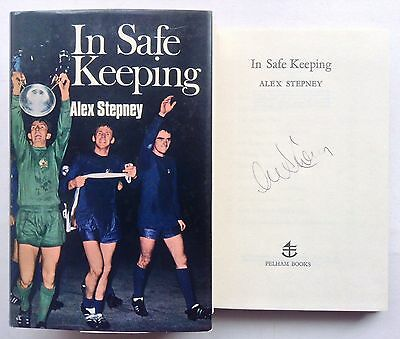 Alex Stepney Signed Book In Safe Keeping Manchester United Autograph