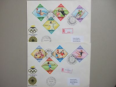 Two MUNICH 1972 OLYMPIC GAMES registered fdc