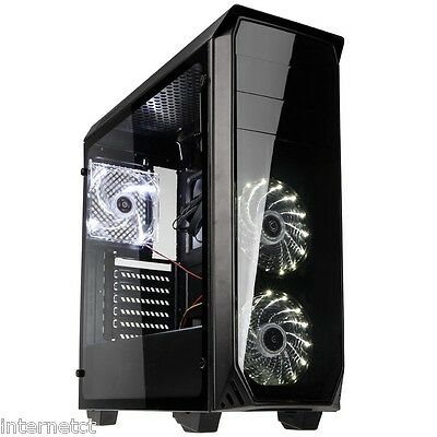 Kolink Luminosity Midi Tower Black Gaming Case With Full Acrylic Side Window