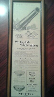 Quaker Oats Vintage Ad Wwi Framed Womens Home Journal 1919 Extremely Rare