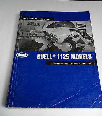 Buell 2009 1125 Models, Official Factory Manual