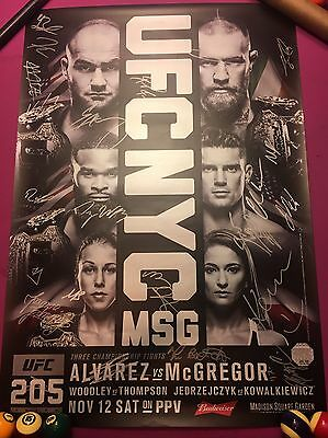 UFC 205 Official Signed Poster (SBC) McGregor NYC + Program + Collectors Ticket