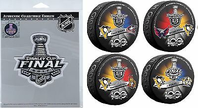 2017 Stanley Cup Final Patch & Pucks Penguins 1St 2Nd Rounds Eastern Conference