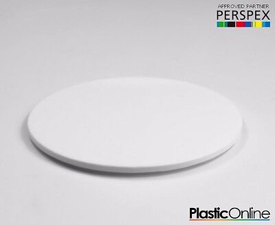 Laser Cut Plastic Circles Acrylic Discs Perspex 3mm, 5mm White Gloss