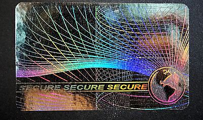 Hologram Secure Overlays Overlay Inkjet Teslin ID Cards - Lot of 10