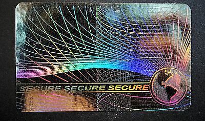 Hologram Secure Overlays Overlay Inkjet Teslin ID Cards - Lot of 5