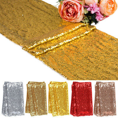 "1 5 10pcs Sequin Table Runners 12""x71"" Sparkle Glitter Wedding Party Decorations"