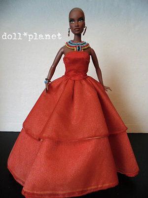 Integrity SERENGETI SUNSETS JANAY Doll AA Barbie size Jason Wu LE red gown rare