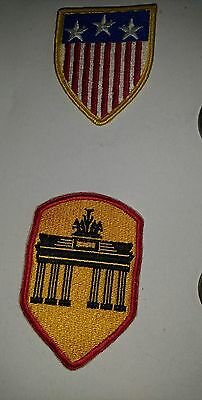 4 Stoff Patches Berlin Brigade  Labor Service