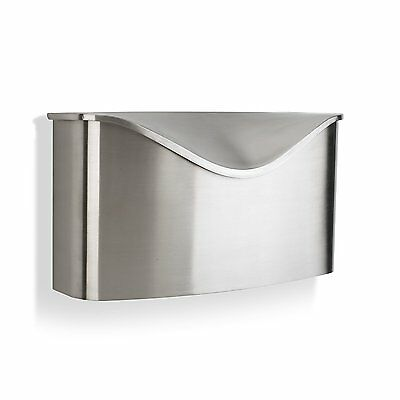 Umbra Stainless Steel Silver Wall Mount Postino Mailbox with Cover Lid Durable