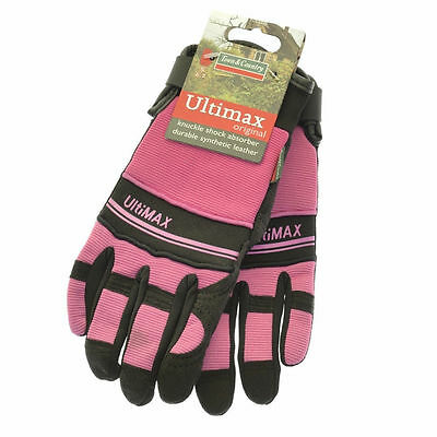 Town & Country Ultimax Heavy Duty Synthetic Leather Gloves - Pink