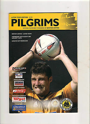 2004/05  Boston United v Luton  (LC)  TOTAL SELL OUT