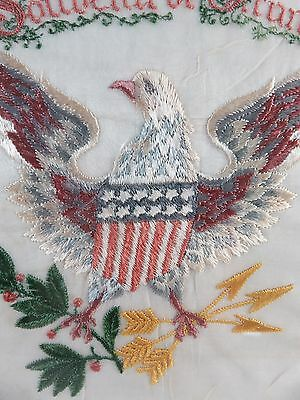 Great Seal of the United States Hand Embroidery, Souvenir de France, World War 1