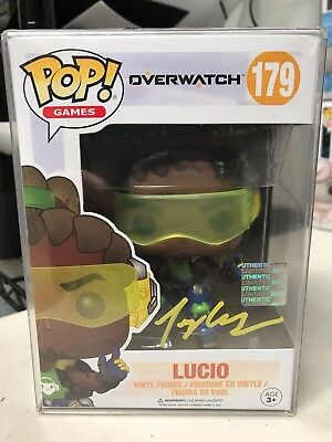 Funko Pop Games Overwatch Lucio 179 Authentic Signed Autographed Rare In Hand