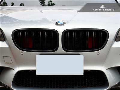 New Replacement Dual Slats Matte Black Front Grille For 11-15 Bmw 5-Series F10