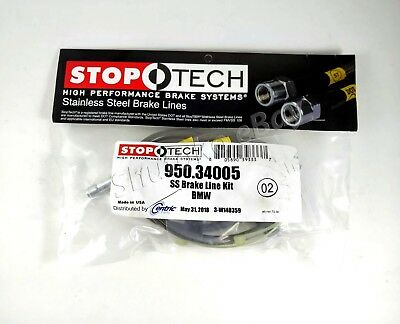 FRONT + REAR SET hose STOPTECH Stainless Steel Brake Lines STL27872-SS