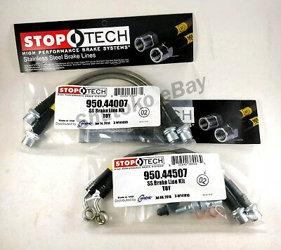 Stoptech Stainless Steel Front + Rear Brake Line Kit For 07-12 Toyota Fj Cruiser