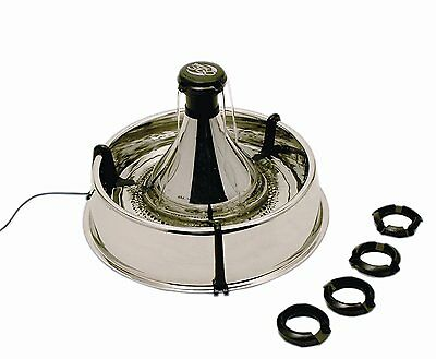 PetSafe Drinkwell 360 degree Pet Cat Dog Stainless Steel Water Fountain