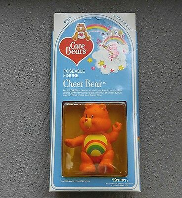 CARE BEARS Cheer Bear 1982 Kenner Poseable Figure 60330  NOS