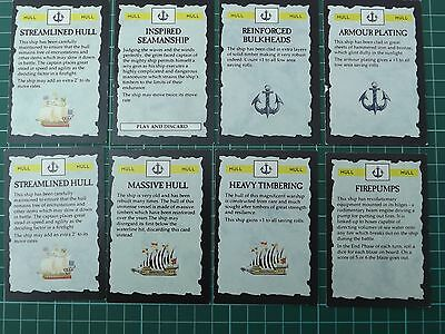 Man o War Hull Cards x8