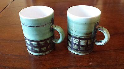 Cinque Ports Pottery The Monastery Rye 2 Coffee Cups c1960's Spares