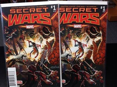Secret Wars 1 Signed By Alex Ross & Jonathan Hickman