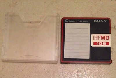 Sony Hi-MD 1gb Disc with slip case. Used