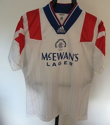 Buy It Now......rangers Away 1992-94 Classic Adidas Football Shirt Size Large.