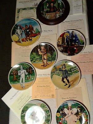 1979 40th anniverary knowles wizard of oz plate collection purchased New in 1979
