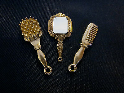 Brush comb and mirror set for German French Fashion china or antique lady doll