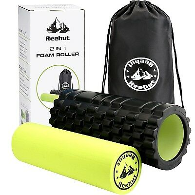 Reehut 2-in-1 Foam Roller. Trigger Point massage for Painful Tight muscles + ...
