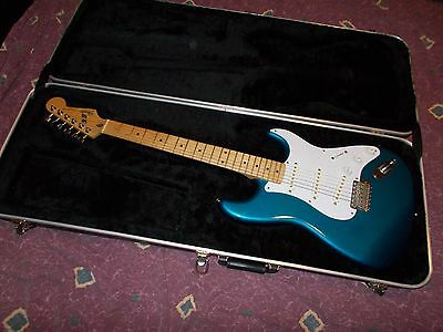Vintage 1988 Fender Japan ST357 Stratocaster Lake Placid/Maple EXC *Worldwide*