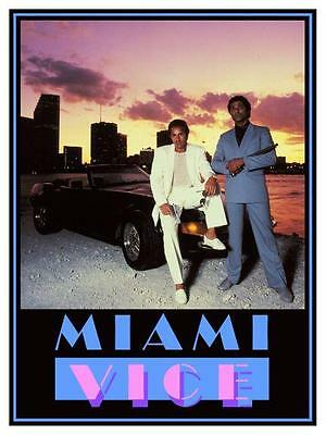 Miami Vice ** POSTER ** - Don Johnson Philip Michael Thomas Michael Mann FERRARI