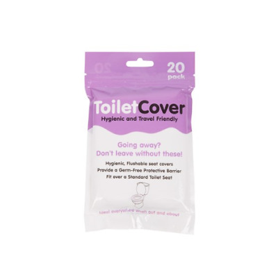 Toilet Seat Covers 20 Pack Disposable Flushable Hygienic Resealable Packaging