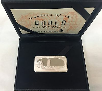 *Limited Edition* Singapore Airlines, Leaning Tower of Pisa Silver Ingot
