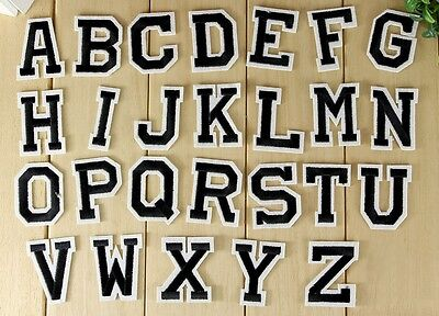 "Embroidered Iron on patch Alphabet Letters Your Choice around 2"" AP025fB"