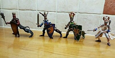 Four Papo knights in excellent condition