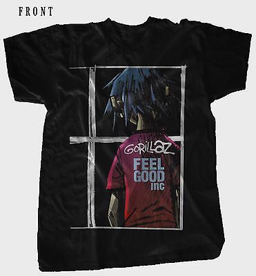 GORILLAZ-Feel Good Inc-British virtual band ,T-shirt-SIZES: S to 7XL