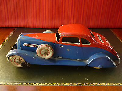 Rare 1930's Charles Rossignol CR France Tin Wind-up Peugeot Coupe Horch Oldtimer