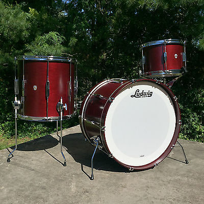 "Ludwig Club Date Fab 4pc Shell Pack 22"" 13"" 16"" in Cherry Stain"