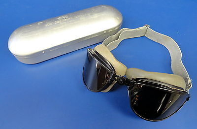American Optical Sky Lookout Flying Goggles-Cased 100% Orig.