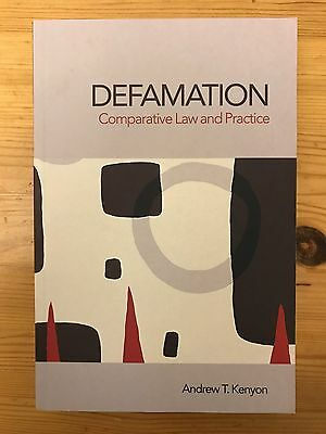 Defamation: Comparative Law and Practice by Andrew Kenyon (Paperback, 2006)