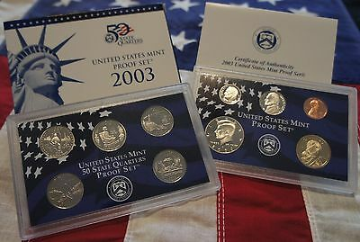 2003 U.S. Mint Proof Set in Original Mint Packaging NICE 10 Coin Set!