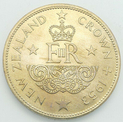 New Zealand / 1953 Crown / Uncirculated / Toned / Km# 30