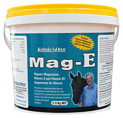 Kohnke's Own Mag-E Magnesium Vitamin E & B1 Supplement For Horses 425gm - 2.5kg