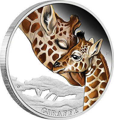 2014 Mothers Love Giraffe 1/2oz Silver Proof Coin
