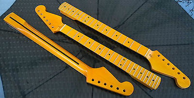 Stratocaster Canadian Maple Strat Neck, 22 fret Maple Fretboard, Vintage Gloss